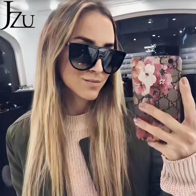 Kim Kardashian sunglasses women vintage retro flat top Shadow oversized square sunglasses luxury brand large shades sun glasses 4