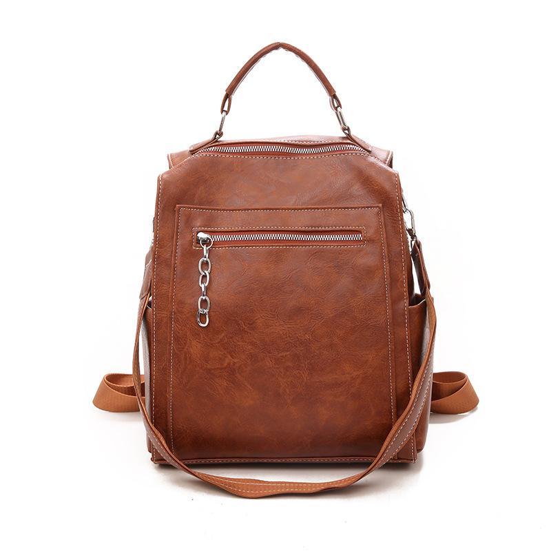 Large Bag Pack for School Vintage Backpacks for School Teenage Girls PU Leather Bag Pack Ladies Mochilas Escolar Para Adolescent