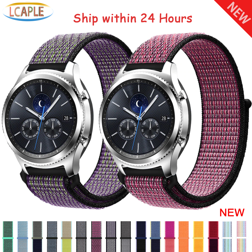 Gear S3 Frontier Nylon Strap For Samsung Galaxy Watch 46mm Huawei Watch Gt 2 Strap 46mm 42mm Correa Active 2 20/22mm Watch Band
