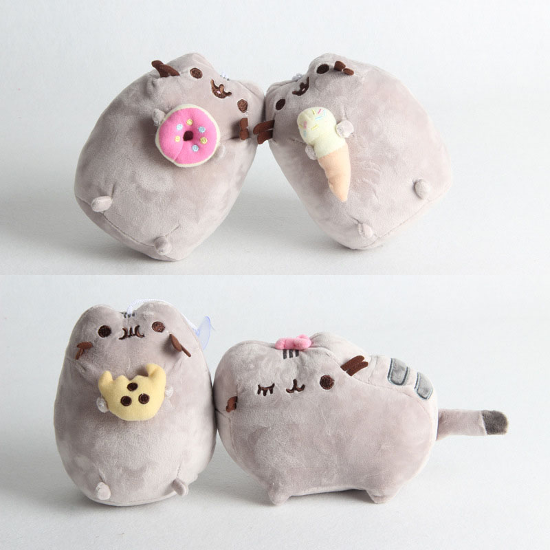 1PC Kawaii Cat Sushi Angel Cookie Chips Doughnut Stuffed & Plush Cushion Pillow Animals Cute Pussy Christmas Gift Cushion Pillow