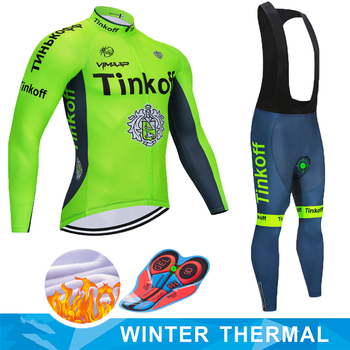 Ciclismo Jersey 2019 Pro Equipo Saxo Banco Tinkoff Invierno Polar Ciclismo Ropa...