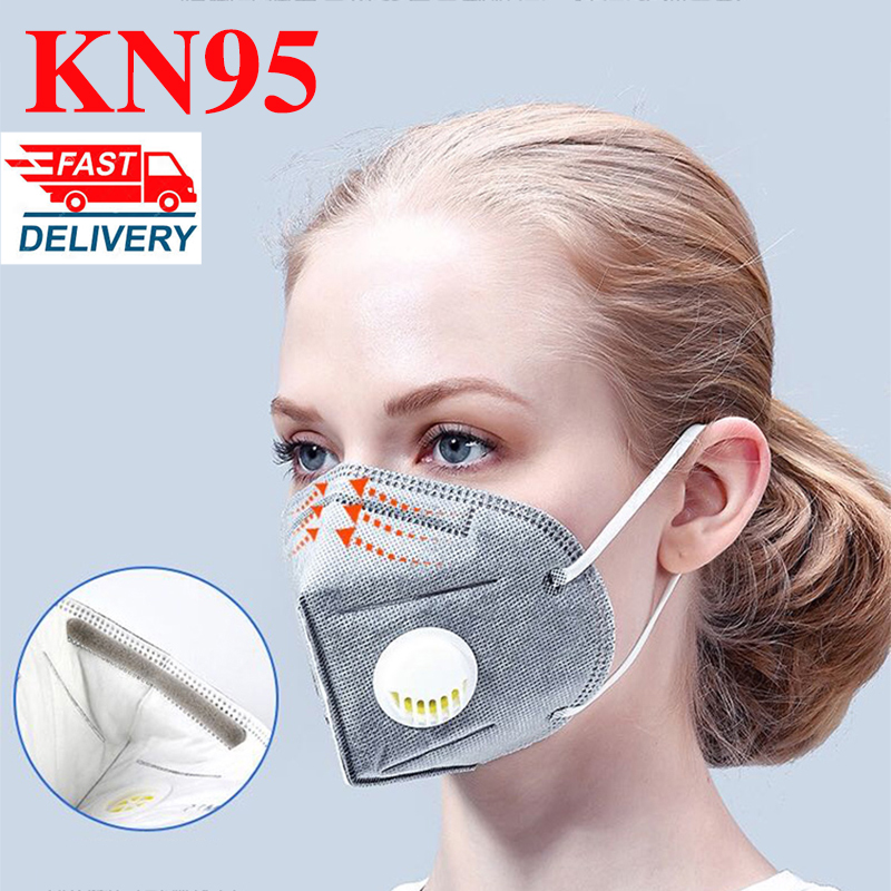 10/20PCS KN95 Mouth Mask 6-Layer N95 Respirator Face Masks Reusable Mouth Mask For Men Women With Filter Anti Dust FFP2