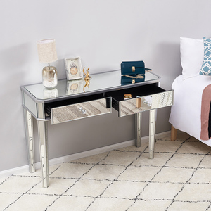 Presell Panana Heißer Verkauf Gespiegelt Glas Dressing Tabelle 2 Schubladen 3 klapp Spiegel Hocker Oder tisch hocker Schlafzimmer Möbel Kommode
