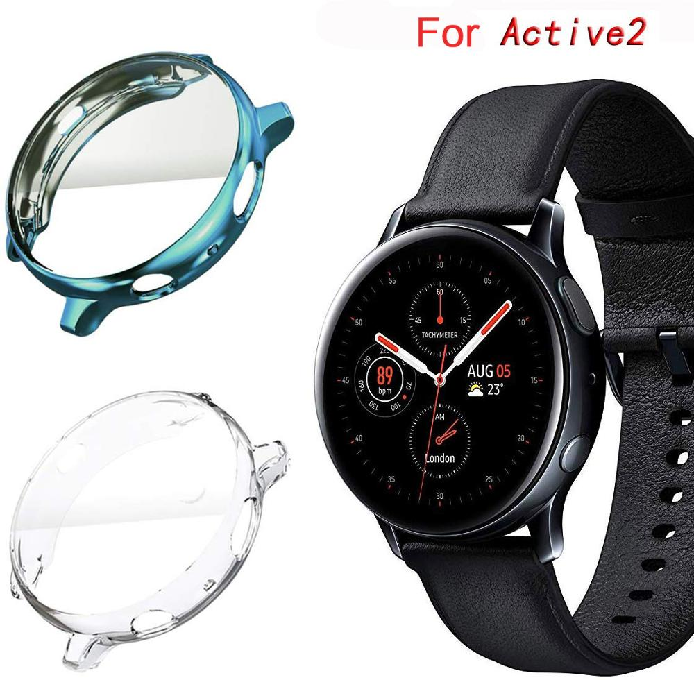 Case for samsung Galaxy watch active 2 40mm/44mm screen protector silicone transparent Ultra-thin un-Full coverage bumper