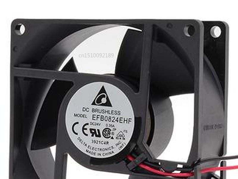 For Delta EFB0824EHF 8032 24V 0.35A Emerson CT Inverter Cooling Fan Free Shipping