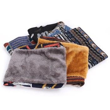 2020 Winter Warm Bib Outdoor Casual Camouflage Scarf Men and Women Winter Plus Velvet Knit Bib Woman Velvet Cotton Scarf Peas