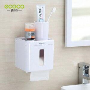 Image 5 - LEDFRE الحمام مقاوم للماء علبة مناديل ورقية من البلاستيك الحائط صندوق تخزين ورقة طبقة مزدوجة RackLF82007