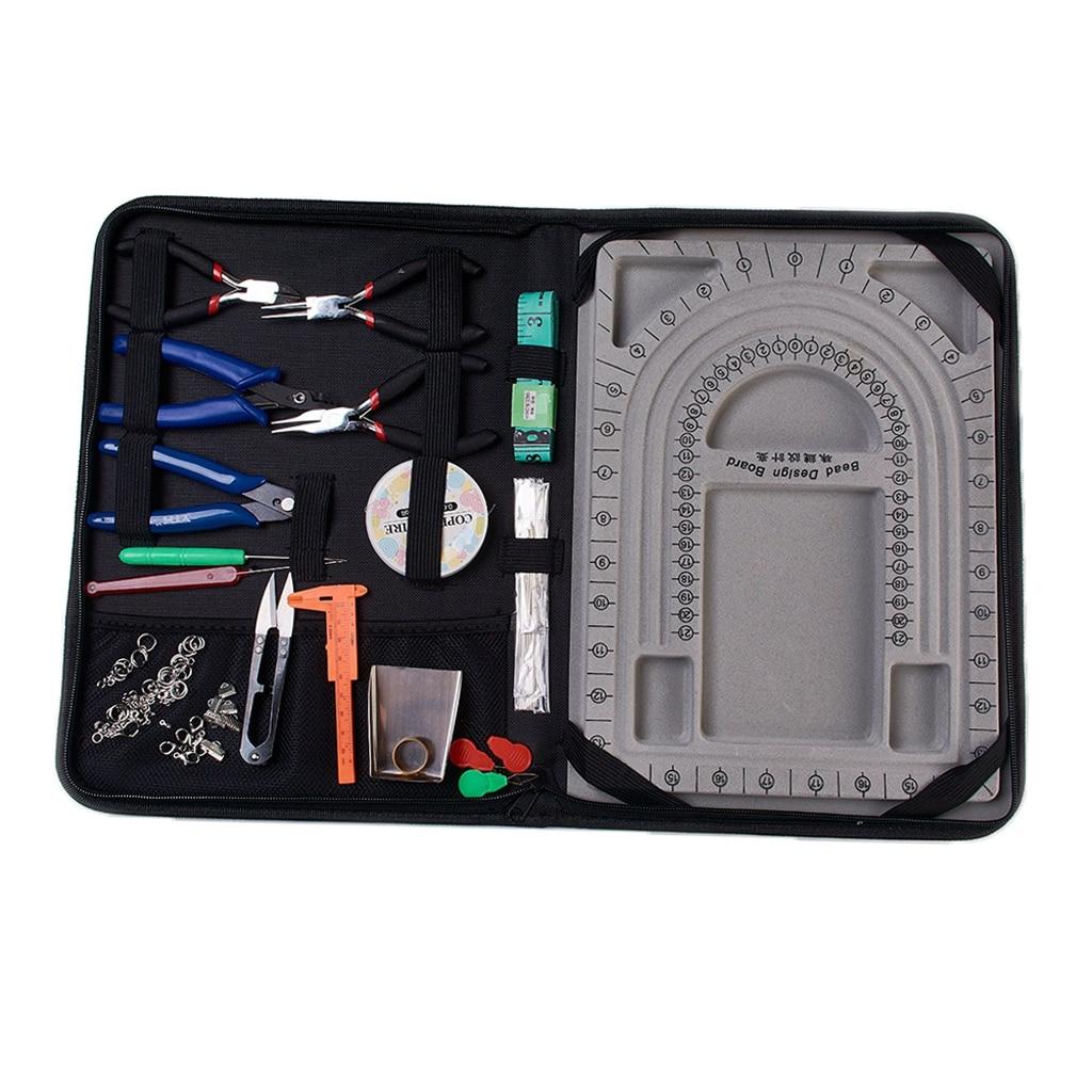 Kit de fabrication de bijoux bricolage outil de démarrage pinces ensemble perles résultats réparation de bijoux