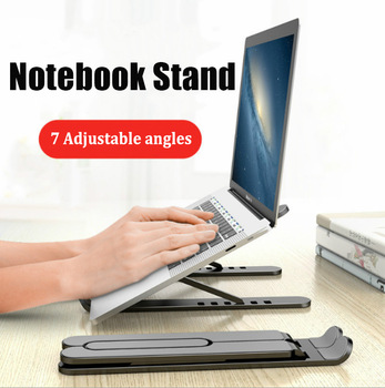 Regulowany składany stojak na laptopa antypoślizgowy uchwyt na laptopa stojak na notebooka do notebooka Macbook Pro Air iPad Pro DELL HP tanie i dobre opinie zexmte CN (pochodzenie) P1 Pro Notebook Stand Black Pink White Laptop Stand 7-speed height adjustment Laptop Stand Stable without shaking Laptop Holder