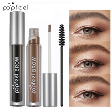 Popfeel Makeup Eye Brow Cream GEL + ขนตา Curler แปรง Eyebrow Enhancer Liquid Black Tint Eyes เครื่องสำอางค์คิ้ว TATTOO Pencil(China)