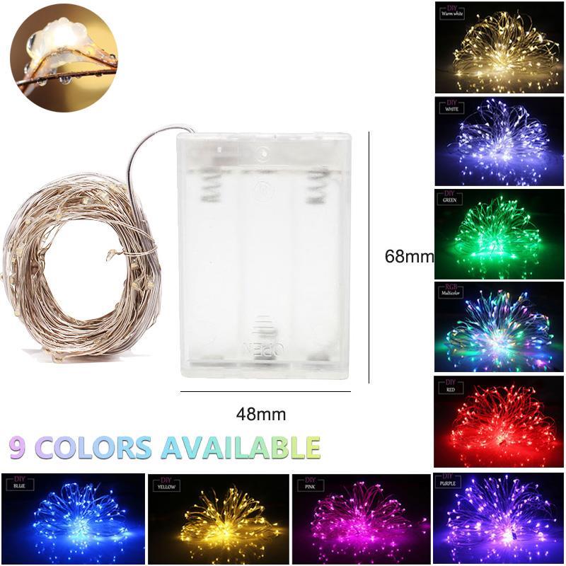 20 Blanc Chaud Micro DEL or fil fée lumières AA Alimenté Par Batterie