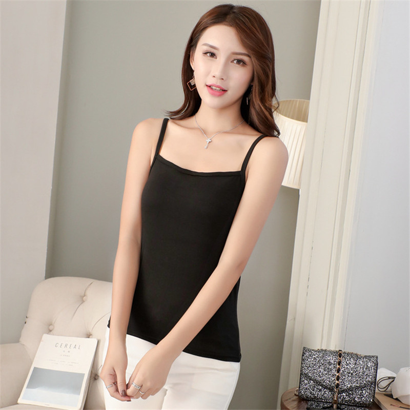White Black Casual   Tank     Top   Female Summer Underwear 2019 Sleeveless Chic Sling Vest Sexy Bra Street Wear for Women Basic   Tops