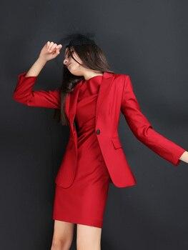 Womens Business Suits Female Office Uniform Trouser Suit women pants suit women suits 2pcs blazer pants customize customized womens pants suit business suits female blazer uniform ladies formal trouser suit womens tuxedo rose red women suits