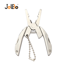 Jelbo Muilti-functional Pocket Plier Outdoor Mini Portable Folding for Clamp Keychain Hiking Camping Tool