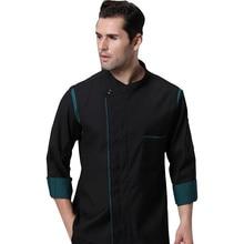 Chef Jacket Shirt Dress Restaurant-Uniform Kitchen Breathable Unisex Wholesale Double-Breasted