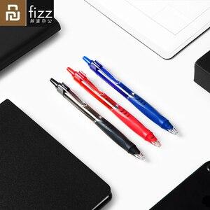 Youpin Fizz быстросохнущая гелевая ручка 3 шт./упак. черные чернила 0,5 мм авторучка для письма плавно нажмите пулевое перо для студенческого офиса...