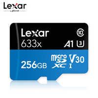 Lexar 633x 256GB tarjeta Micro SD tarjeta de memoria de 128GB de alta velocidad hasta Max 95 M/s 64GB Class10 633x TF tarjeta 32GB tarjeta Flash para tableta