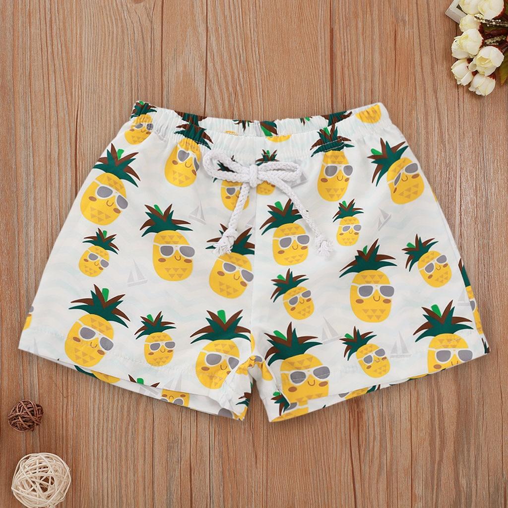 New Swimsuit 2021 Toddler Kids Baby Swimwear Floral Casual Elastic Waistband Beach Shorts Summer Baby Boys Swimwears Swimsuit