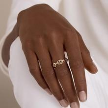 Peri'sBox 2 вида конструкций с вырезами, трехслойные кольца на цепочке, многозвенные нестандартные Открытые Кольца для женщин, минималистичные кольца, регулируемые