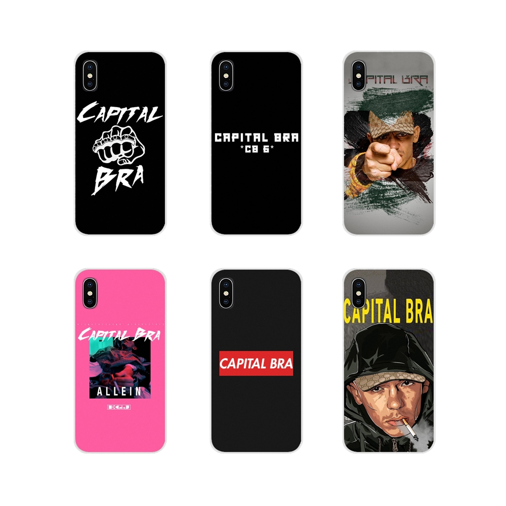 For Apple iPhone X XR XS MAX 4 4S 5 5S 5C SE 6 6S 7 8 Plus ipod touch 5 6 Accessories Phone Shell Covers rapper Capital Bra