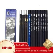 Material de desenho de papeleria arte carvão colorido dibujo profissional bendy kalemlik lápis grafite hb 2b de madeira