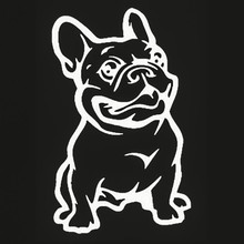 Leuke Franse Bulldog Hond Auto Sticker HUISDIER Auto Decal Weerbestendig Auto Styling Cartoon Auto Stickers Auto Accessoires(China)