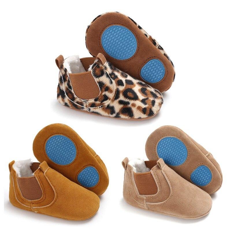 2019 bébé chaussures en cuir PU enfant en bas âge mocassins imprimé léopard bébé chaussure antidérapant premiers marcheurs chaussures pour nouveau-né garçons filles 5