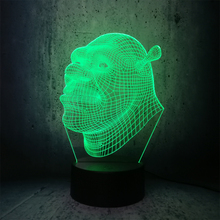 Shrek 3D Touch USB Visual Led Bulb Lamp Night Light novelty lighting floodlights Table Lampara Xmas Gift RGB movie fans gifts cheap DREAM MASTER Atmosphere cartoon diqiuyi Night Lights LED Bulbs Dry Battery Holiday 0-5W ROHS Top Quality Fashion Sports Cool