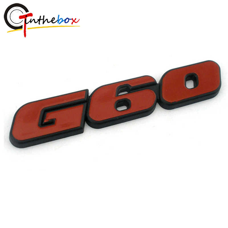 GTinthebox 1PC 3D Rosso G60 Posteriore Auto Auto Distintivo ABS Emblem Per VW Golf POLO Corrado CADDY MK2 G60