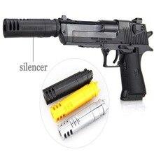 цена на 2019 Can Fire Gun Handgun Pistol Model DIY Assembly 3D Puzzle Toy Brain Game Model Bullets NEW For Kids gift