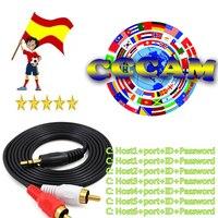 עבור dvb HD אירופה 1 Year CCCam ספרד פורטוגל גרמניה פולין טלוויזיה בלוויין המקלט 6 קליינס עבור DVB-S2 gtmedia v7s freesat V8 SUPER (1)