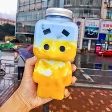 Fruit-Cup Beverage-Bottle Yogurt Disposable Juice-Bar Milk Plastic 10pcs/Lot Tea-Shop