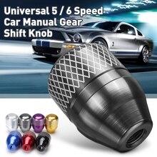 цена на Car Interior Parts 7 Color JDM Style Aluminum Gear Shift Knob Auto Shifter Lever Knobs Manual Transmission Fit For Honda CIVIC