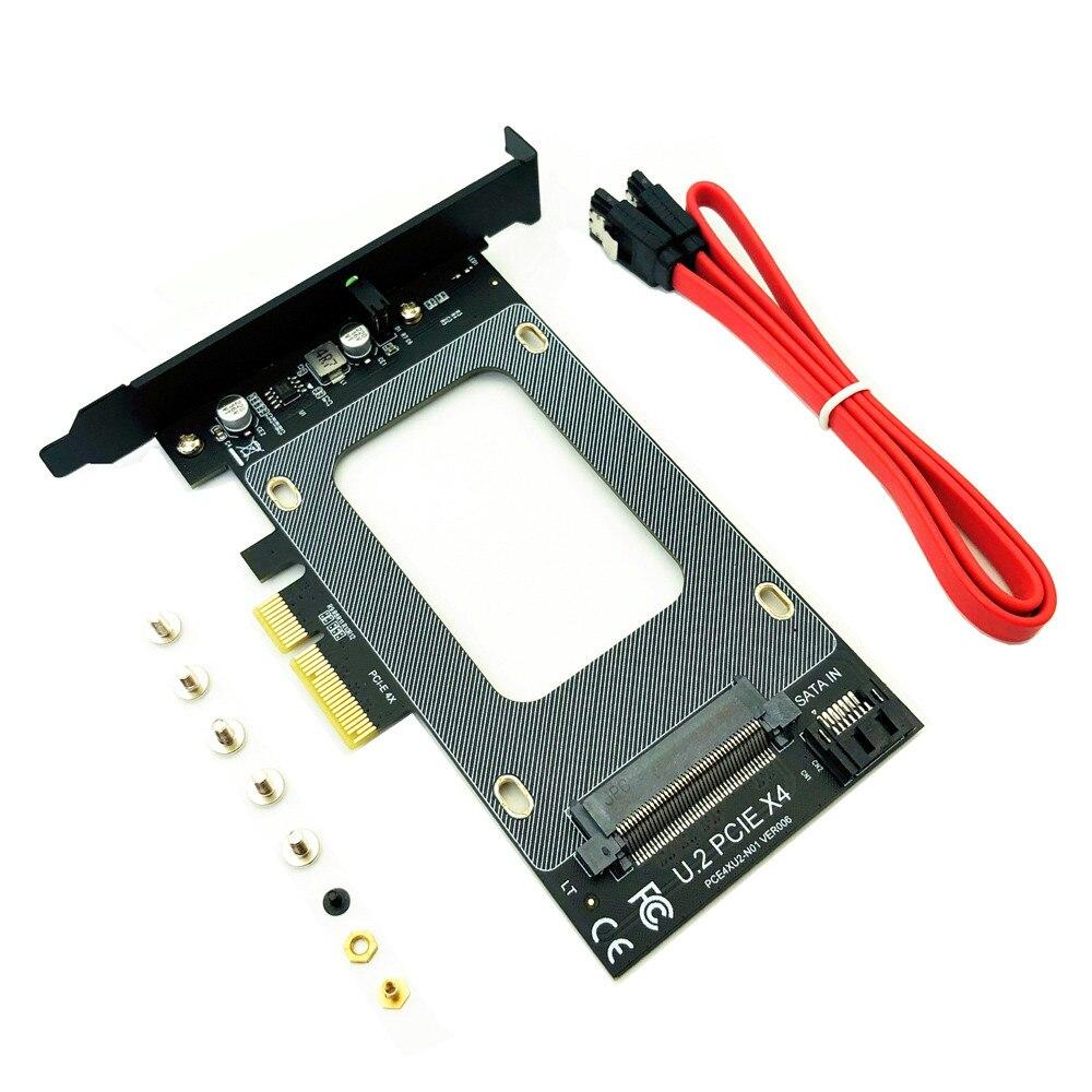 """PCI-E Riser 3.0 4X to U.2 SFF-8639 Adapter PCIe U.2 SSD to PCI Express Card Support U.2 SSD 2.5"""" SATA SSD to PCI-E X4 Riser Card"""