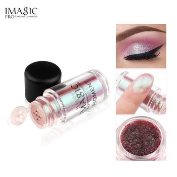 IMAGIC Glitter Eyeshadow 9 kolorów brokatowe oczy monochromatyczne oczy Shimmer Powder przybory do makijażu kosmetyki do oczu tanie i dobre opinie Glitters Wodoodporna wodoodporny Rozjaśnić Inne Długotrwała 2g 0 07oz W pełnym rozmiarze Powyżej ośmiu kolorach Chiny