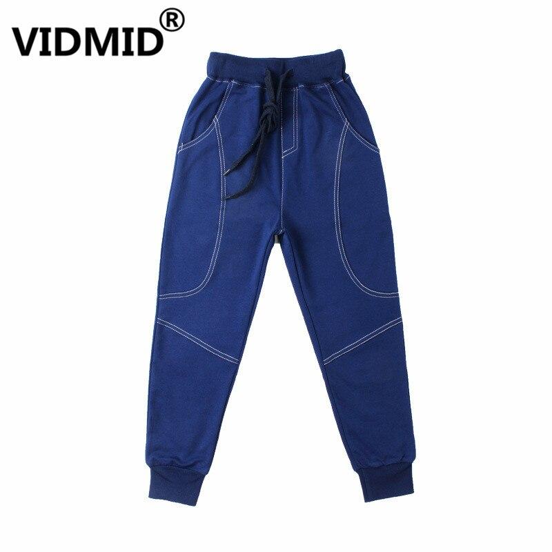 VIDMID Kids Pants 6-14years Boys Casual plaid Pants Kids Clothing Cotton Boys Long Trousers Children Boys Clothing pants 4102 34 1