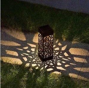 Image 2 - Waterdichte outdoor aestheticism hollow out gazon lamp solar lamp, LED optische sensing de binnenplaats gazon lamp