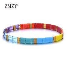 ZMZY Neue Mode Handgemachte Miyuki Perle Armband Frauen Tila Perlen Armband Meer Strand Schmuck Manschette Zubehör