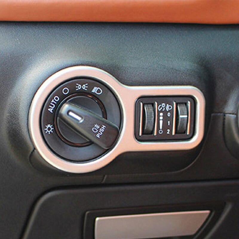Headlight Switch Frame Cover Trim ABS Chrome plastic Silver 1 pcs//set for Maserati Ghibli Quattroporte Interior Auto Vehicle Accessory