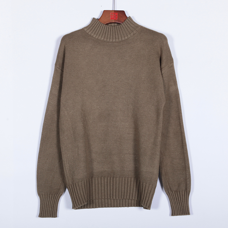 UYUK2019 Pro Winter New Fashion Trend Loose Casual Versatile Semi-turtleneck Solid Color Men Sweater Clothes Hombre Homme