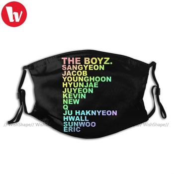 The Boyz Kpop Mouth Face Mask THE BOYZ KPOP Facial Mask with Filters Fashion Beautiful for Adult Mask