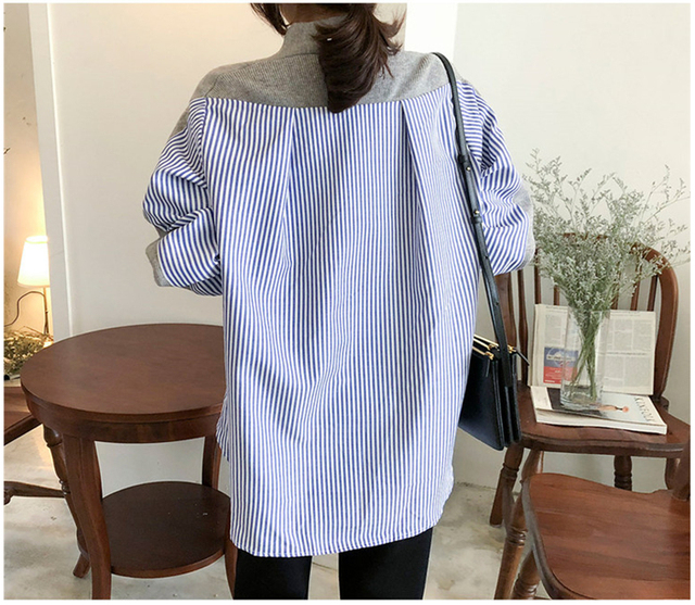 Ailegogo New 2020 Women's Autumn Sweaters Patchwork Srtiped Knitting V-Neck Cardigans Casual Single Breasted Loose Tops 6