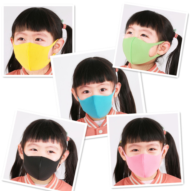 3pcs Sponge Boy Girl Kid Smoke Mask Reusable Children's Mouth Face Mask Allergy Pollution proof Filter Mask Travel 1