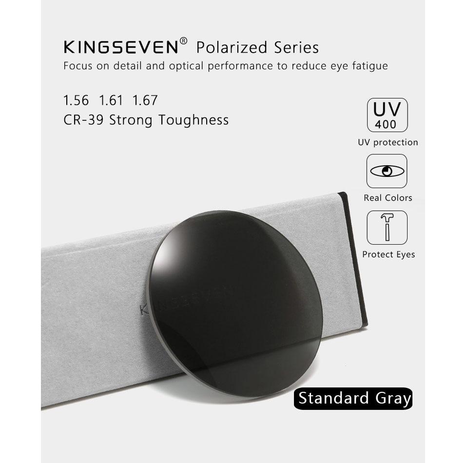 KINGSEVEN Prescription Series Gray Brown Lens 1.56 1.61 1.67 CR-39 Resin Aspheric Glasses Lenses Myopia Presbyopia Optical Lens