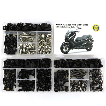 For Yamaha XMAX125 XMAX250 XMAX400 2014-2019 Complete Full Fairing Bolts Kit Bodywork Screws Nuts Fairing Clips Steel for yamaha tmax 530 tmax530 2012 2019 complete full fairing bolts kit bodywork screws steel clips speed nuts covering bolts