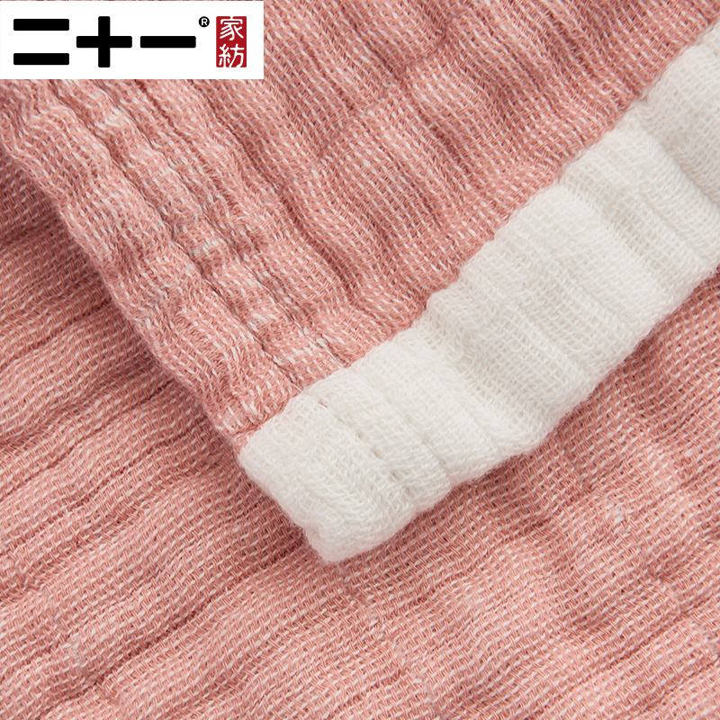 Twenty one A Class Full Cotton Three Layers Gauze Towel Quilt Yarn Dyed Wash Pure Cotton Cover Carpet Noon Break Blanket Coupe - 5