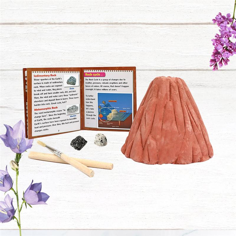 1PC Children Digging Toy Volcanic Eruption Model Digging Toys Stone Toy Funny Excavation Toy Early Educational Excavation Stone