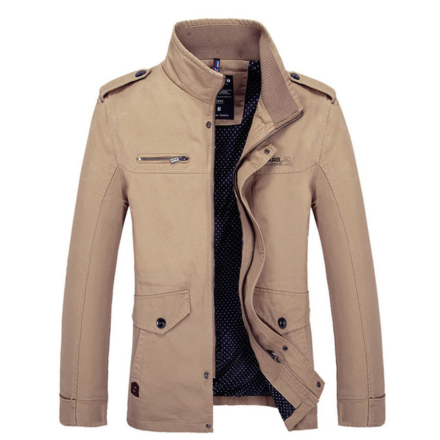 Brand Men Jacket Coats Fashion Trench Coat New Autumn Casual Silm Fit Overcoat Black Bomber Jacket Male long jacket Men M-5XL 3