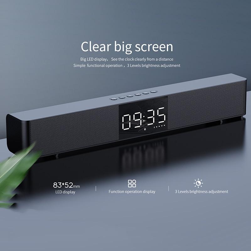 mifa Soundbar K3 Bluetooth Speaker 2 Stereo Sound Big Digital Display Wireless Bluetooth 5.0 Support TWS 6