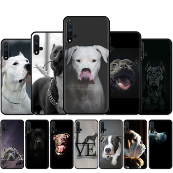 Pit Bull Lovely Pet Dog Pitbull Silicone Phone Case For Huawei Nova Lite 2 Lite 2i 3 3i 4 4E 5i 5T 7 7SE Back Cover image